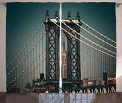 Manhattan Köprüsü Fon Perde Mimari Etkili