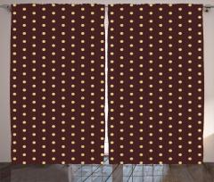 Kahverengi Puantiyeli Fon Perde Şık Tasarım