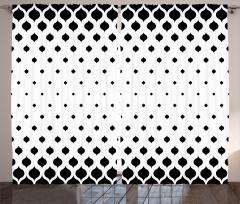 Siyah Beyaz Yaprak Fon Perde Şık Tasarım