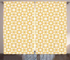 Oryantal Geometrik Fon Perde Dekoratif Şık