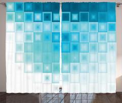 Mavi Buz Küpleri Fon Perde Dekoratif Şık