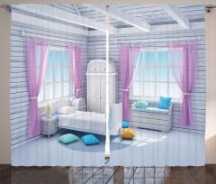 Rüya Yatak Odası Fon Perde Fantezi Ahşap Ev
