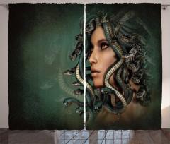 Medusa'nın Saçları Fon Perde 3D Efektli
