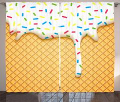 Gofrete Akan Dondurma Fon Perde Şeker Kaplaması
