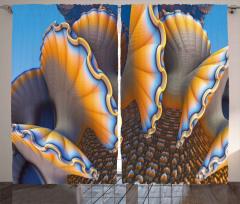Fantastik Deniz Canlısı Fon Perde Turuncu Mavi Şık