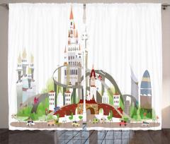 Şehrin Karmaşası Temalı Fon Perde Şık Tasarım Trend