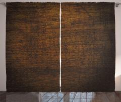 Dekoratif Ahşap Desenli Fon Perde Kahverengi