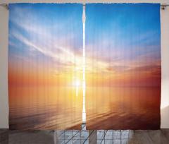Denizde Gün Batımı Fon Perde Doğada Huzur Gökyüzü