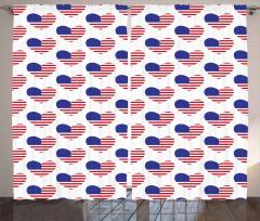 Kalpli ABD Bayrakları Fon Perde Dekoratif