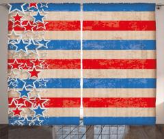 Kalpli Amerikan Bayrağı Fon Perde Nostaljik