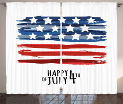 Dört Temmuz Kutlaması Fon Perde Lacivert