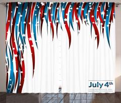 Kalpli Amerikan Bayrağı Fon Perde Şık