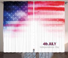 Yıldızlı ABD Bayrağı Fon Perde Dört Temmuz