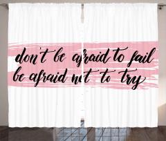 Başarısızlıktan Korkma Fon Perde İlham Verici