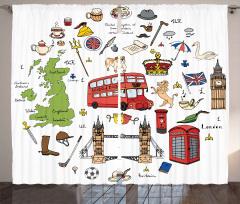 Birleşik Krallık Sembol Fon Perde Big Ben Çay