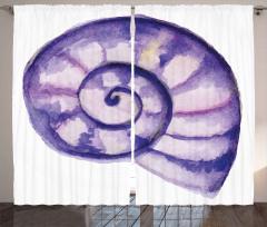 Mor Deniz Kabuğu Fon Perde Şık Tasarım