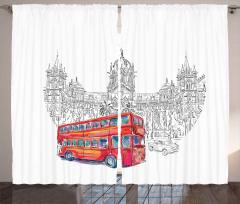 Kırmızı Otobüs Seyahati Fon Perde Hindistan Şık