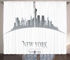 New York Gökdelenleri Fon Perde Özgürlük Anıtı