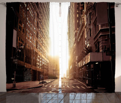 New York'un Boş Sokağı Fon Perde Binalar