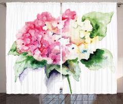Vazodaki Pembe Çiçekler Fon Perde Çeyizlik
