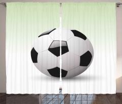 3D Etkili Futbol Topu Fon Perde Beyaz Arka Plan