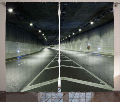 Kıvrak Tünel Yolculuğu Fon Perde Dekoratif
