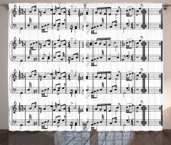 Porte ve Notalar Fon Perde Müziğin Dili