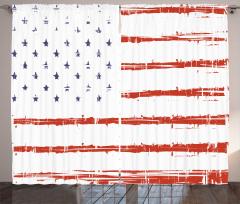 Silik Amerikan Bayrağı Fon Perde Dekoratif