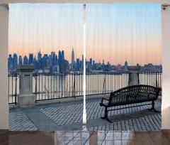 Bankta Manhattan Keyfi Fon Perde Şehir