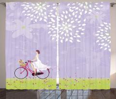 Gelin Çiçekli Bisikleti Fon Perde Romantik