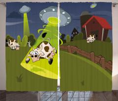 Uzaylılar İneği Kaçırdı Fon Perde Ufolar Çiftlikte
