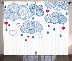 Kalpler Sarkan Balonlar Fon Perde Dekoratif