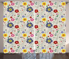 Yusufçuk Çiçek ve Kelebek Fon Perde Şık Tasarım