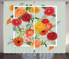 İlkbahar Çiçekleri Fon Perde Çeyizlik Romantik Şık