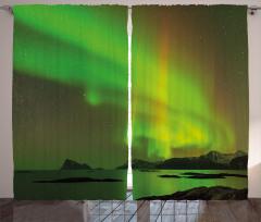 Nefes Kesen Kuzey Işığı Fon Perde Gökyüzü