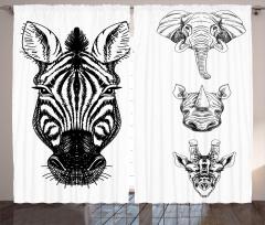 Savanadan Hayvan Başı Fon Perde Afrika