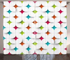 Dekoratif Geometrik Desenli Fon Perde Şık Tasarım