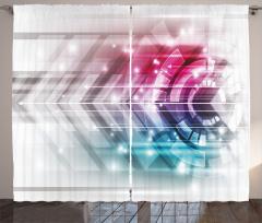 Teknolojik Şık Desenli Fon Perde Fütüristik Dizayn
