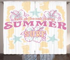 Plaj Partisi Desenli Fon Perde Pembe Sarı Beyaz