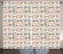 Boy Boy Bisikletler Fon Perde Şık