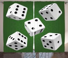 Beş Zar Beş Yol Fon Perde Geometrik