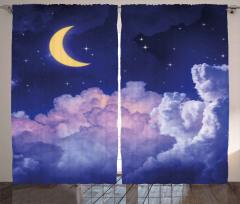 Aydede Bulutlar Yıldız Fon Perde Gece Gökyüzü