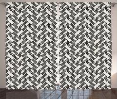 Stilize Beş Rakamı Fon Perde Dekoratif