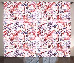 Stilize Üçgen Desenli Fon Perde Geometrik