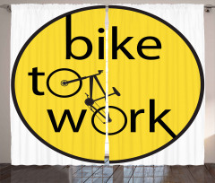 Bisiklete Binin İlanı Fon Perde Dekoratif