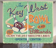 Bowling Salonu Tabelası Fon Perde Nostaljik