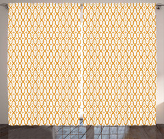Sarı Haçlı Kafes Fon Perde Dekoratif