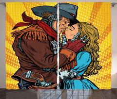 Android Kovboy ve Kız Fon Perde Romantik Öpüşme
