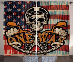 Kuru Kafa Motosikletçi Fon Perde Amerikan Bayrağı
