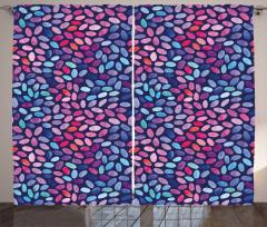 Sulu Boya Mozaik Desenli Fon Perde Şık Tasarım